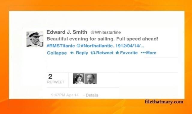 Best Titanic Tweet