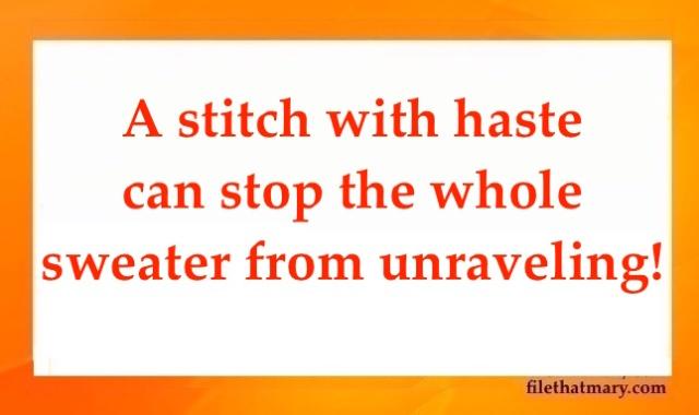 A stitch