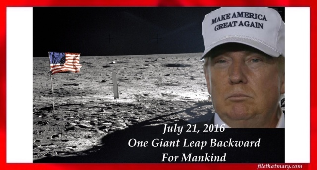 Apollo Trump Moon Landing