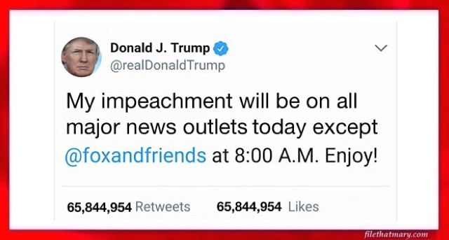 A impeachment tweet