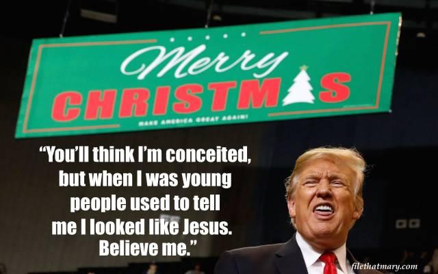 a trump Jesus