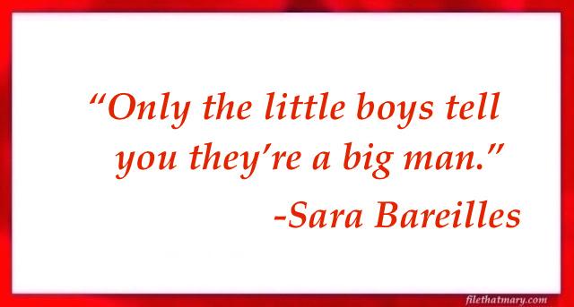 A Sara Bareilles quote
