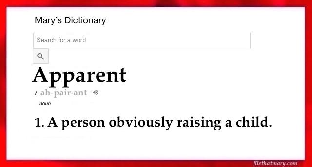 apparent dictionary