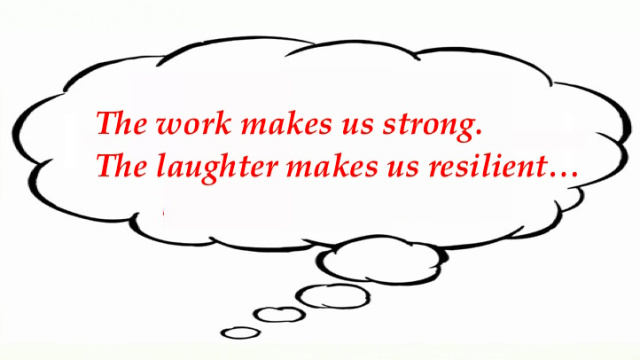 a work and laughter