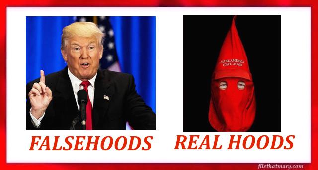 Falsehood Real hoods